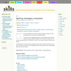 Spelling strategies evaluation