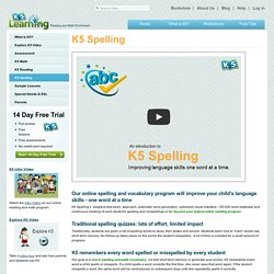 Online spelling and vocabulary program for kids