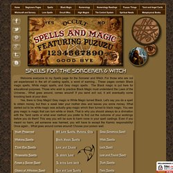 Spells for the Sorcerer - Witch