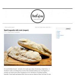 Spelt baguette with nuts {vegan}