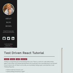Spencer Dixon - Test Driven React Tutorial