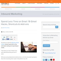 Spend Less Time on Email: 19 Gmail Hacks, Shortcuts & Add-ons