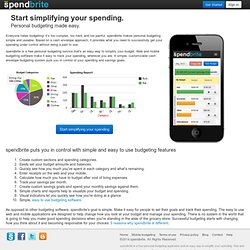 spendbrite : Budgeting made easy : Free personal budget