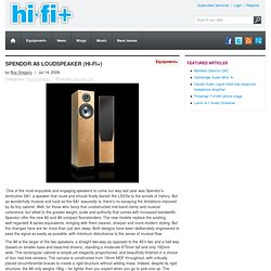 Spendor A6 Loudspeaker (Hi-Fi+)