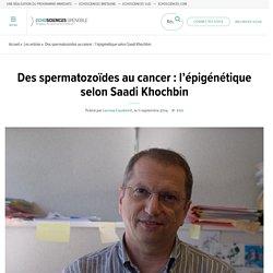 Des spermatozoïdes au cancer : l'épigénétique selon Saadi Khochbin