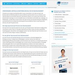 Sperrvermerk / Vertraulichkeitserklärung für die Bachelorarbeit
