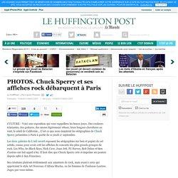 Chuck Sperry et ses affiches rock débarquent à Paris