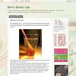 DIY Bubble Tea 1 - grüner Tee mit Kirsch Kaviar oder was hat Popping Boba mit Sphärifizierung und Protesenkleber zu tun