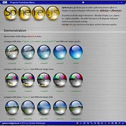 sphere.js (javascript spherical image effect)