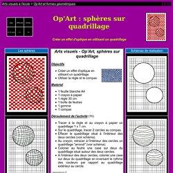 Sphères sur quadrillage
