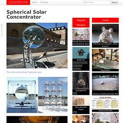 Spherical Solar Concentrator