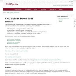 CMU Sphinx Downloads [CMUSphinx Wiki]