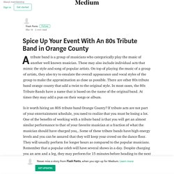 Spice Up Your Event With An 80s Tribute Band in Orange County