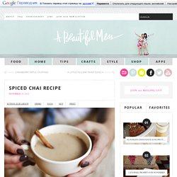 Spiced Chai Recipe