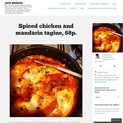 Spiced chicken and mandarin tagine, 68p