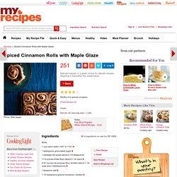 Spiced Cinnamon Rolls with Maple Glaze Recipe