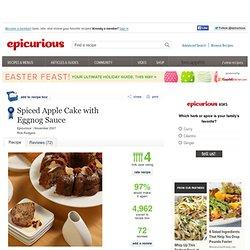 Spiced Apple Cake with Eggnog Sauce Recipe at Epicurious
