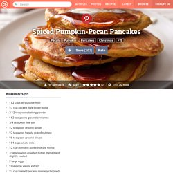 Spiced Pumpkin-Pecan Pancakes Recipe