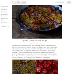Spiced Tomato Gratin Recipe
