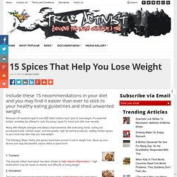 15 Spices That Help You Lose Weight