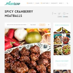 Spicy Cranberry Meatballs
