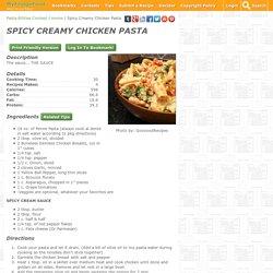 Spicy Creamy Chicken Pasta