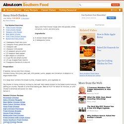 Sassy Fried Chicken - Spicy Oven-Fried Chicken Recipe