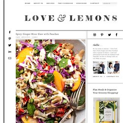 Spicy Ginger Miso Slaw with Peaches Recipe