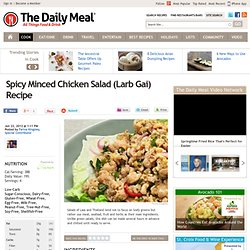 Spicy Minced Chicken Salad (Larb Gai) Recipe