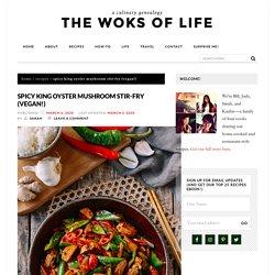 Spicy King Oyster Mushroom Stir-fry (Vegan!)