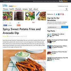 Spicy Sweet Potato Fries and Avocado Dip