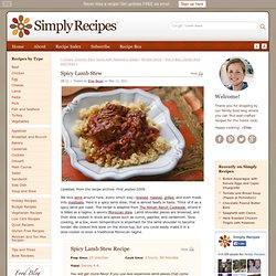 Spicy Lamb Stew Recipe