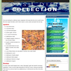 Spicy Vegetarian Chili - DASH Diet Collection