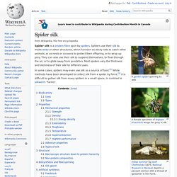 Spider silk - Wikipedia