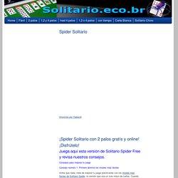 Spider Solitario con 2 palos gratís online! Disfrútelo ahora!