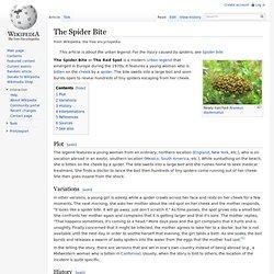 The Spider Bite