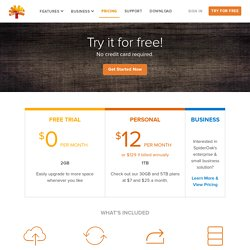 Free Online Backup and Sync - Pricing Plans - SpiderOak.com
