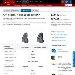 Artec Spider™ et Space Spider™ — Caractéristiques — Artec 3D Scanners