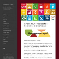L'Agenda 2030 spiegata ai bambini – Progetto Ipazia