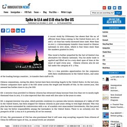 Spike in LI-A and L1-B visa to the US