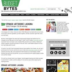 spinach artichoke lasagna