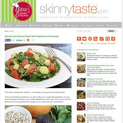 Spinach and Quinoa Salad with Grapefruit and Avocado. This salad ...