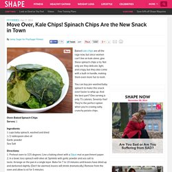 Spinach Chips Are the New Kale Chips - Best Healthy Snacks
