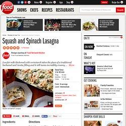 Squash and Spinach Lasagna Recipe : Food Network Kitchens
