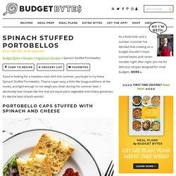 Spinach Stuffed Portobellos