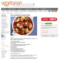 Tofu and Spinach Stuffed Shells Recipe