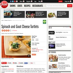 Spinach and Goat Cheese Tartlets Recipe :