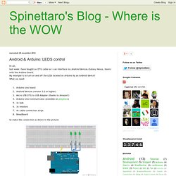 Spinettaro's Blog - Where is the wow: Android & Arduino: LEDS control