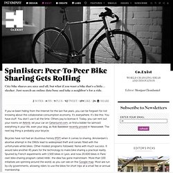 Spinlister: Peer-To-Peer Bike Sharing Gets Rolling