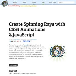 Create Spinning Rays with CSS3 Animations & JavaScript